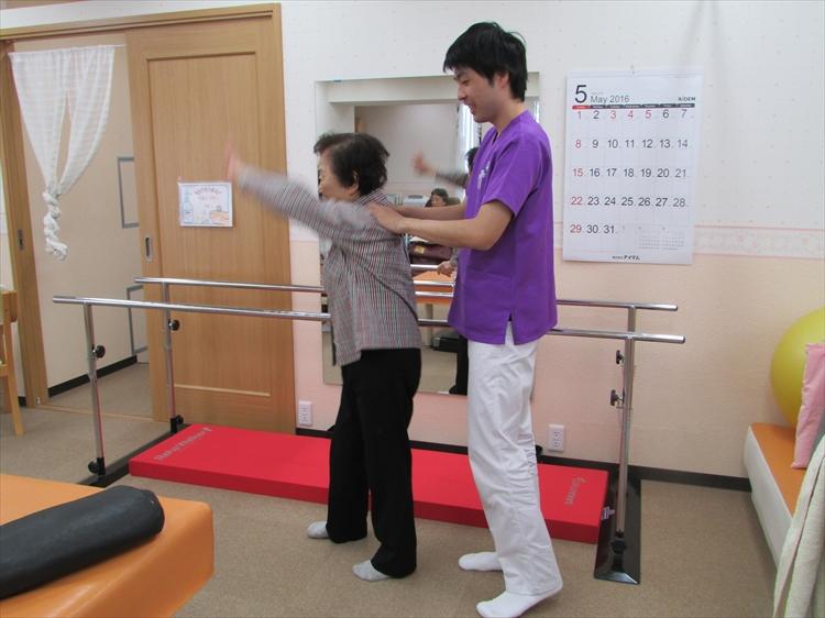 墨田区両国の歩行訓練